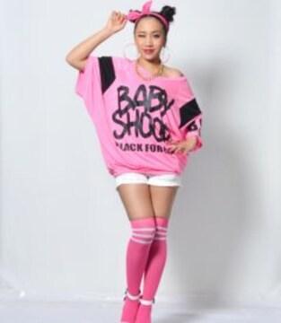 新品 baby Shoopラインソックス ピンク