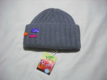 wb100 ROXY ロキシー ニット帽 極厚 グレー