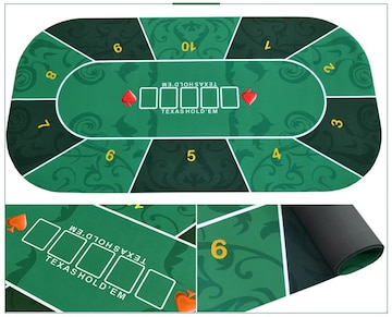 新品 ポーカーテーブル Texas Holdem ゲームマット
