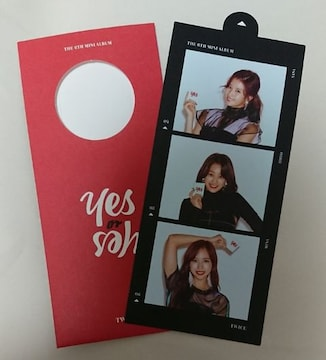 TWICE サナ・ジヒョ・ミナ YES or YES カード