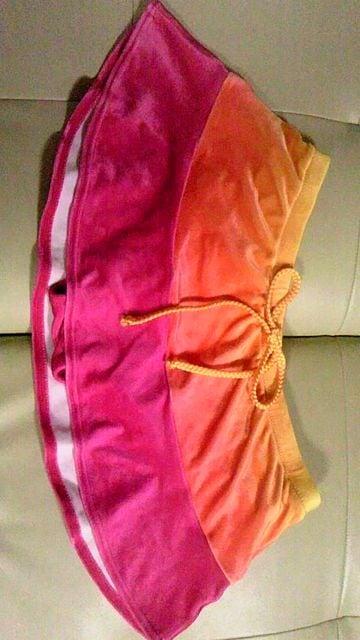 三愛アイビーズ&グラデーションベロア風ホルターリボンワイヤービキニ水着スカパンスカート < 女性ファッションの