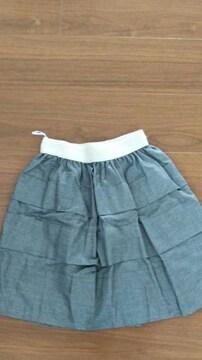 sサイズ グレーラメ入りスカート��1233