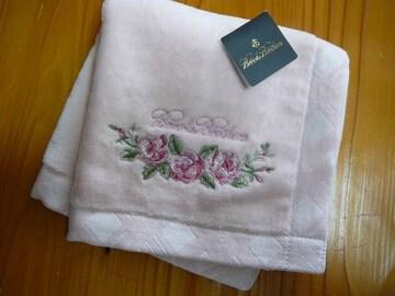 ブルックスブラザーズ pタオルハンカチ薔薇刺繍