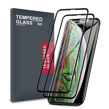 iPhone Xs Max ガラスフィルム 2枚セット 6.5 インチ ブラック