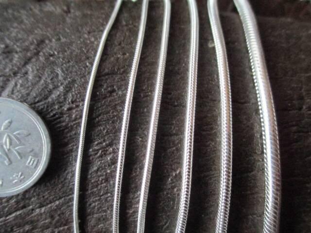 イタリア製シルバー925チェーン  2.15mm  45cm16.6 g *Snake060 < 男性アクセサリー/時計の