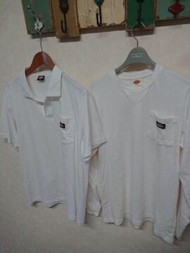 ディッキーズ/Dickies 長袖ロングTシャツ×半袖ポロシャツ 2枚セット L