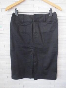 即決/INDIVI/前スリットストレッチタイトスカート/黒/38