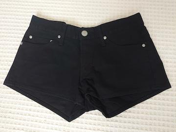 ☆美品 moussy黒ショートパンツ☆26