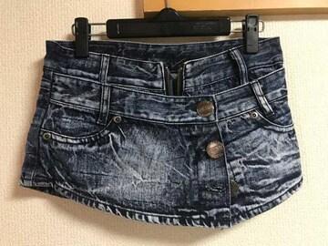 ★巻スカ風×デニムショートパンツ  W61★
