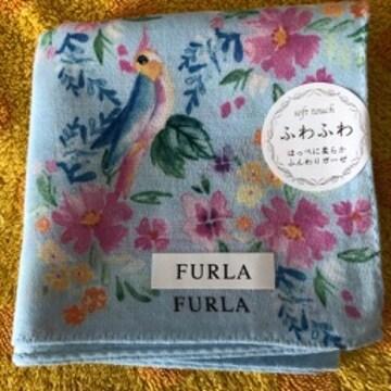 フルラ ハンカチ 小鳥+お花柄