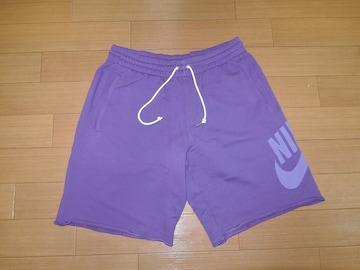新品 NSW スウェットショーツ L 紫 ハーフパンツ NIKE ナイキ