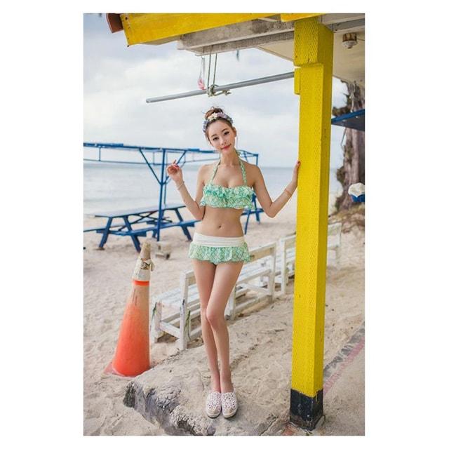 新品ビキニMサイズ3点商品(イエロー、ホワイト、グリーン) < 女性ファッションの