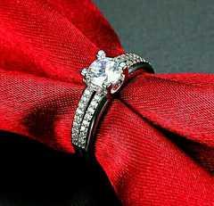 1円〜◆ダイヤ0.5CT wedding RING 11号