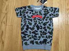 新品タグ付ロデオクラウンズキッズ4104円半袖Tシャツスエット迷彩柄カモフラ柄
