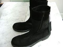 ★4.5万新品トルネードマート本革レザー ブーツ S黒24.525.025.5