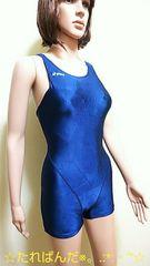 アシックス☆光沢ネイビーのオールイン競泳水着2195☆3点で即落