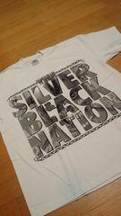 LA直輸入 SILVER&BLACK Tシャツ 白ホワイト サイズ3XL XXXL G�A