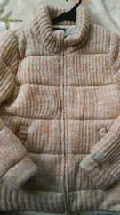 女性アウターLLピンク  編み柄