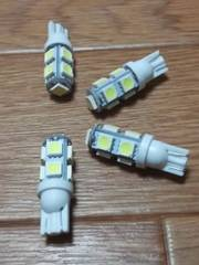 LED T10ウェッジ球(白/高輝度SMD/27連級)4個セット