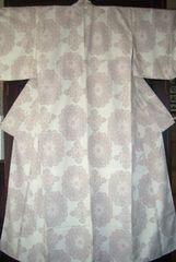 白大島風紋様 袷のお着物 未使用品