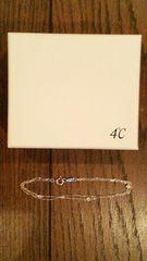 4℃☆2連ブレスレット シルバー 新品未使用