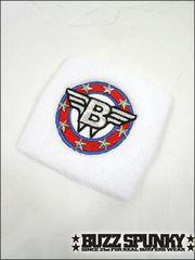 BUZZSPUNKY(バズスパンキー)Bエンブレムリストバンド/白