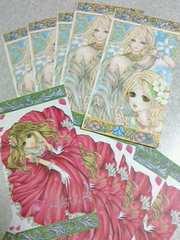 自作同人便箋 (短冊形大) オリジナル blossom/Wind Rose 2種入り