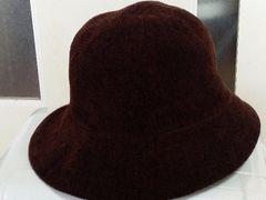美品♪ELLE帽子(M)茶