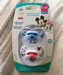 国内未発売! 6-18M NUK ミッキーマウス おしゃぶり 2個セット