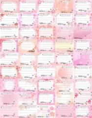 (45)◎E-桜◎種類豊富★宛名シールセット*45種45枚♪