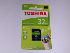 東芝 SDHC 32GB 100MB/S 新品 送料無料
