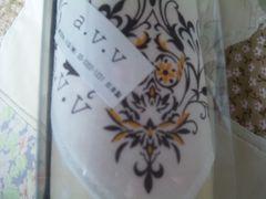 新品未使用未開封ア-ベ-ベ-日本製ハンカチ綿100%a.v.vドット柄ベ-ジュ11