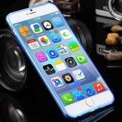 iphone6s/6 plus (5.5inch) ケース シリコンカバー スカイブルー