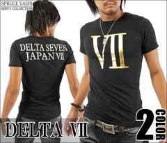 メール便送料無料【DELTA】Tシャツ70593新品黒金XL
