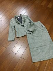 【サイズ9】SUN WIND◆襟ワイヤー◆上質ツイードスーツ