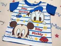 ベビーミッキー&ベビードナルド半袖Tシャツサイズ90�p