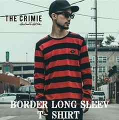 "★新着クライミー【CRIMIE】 ""BORDER LONG SLEEV TEE""RED L★"