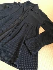 BERGE★ドット ブラウス シャツ 黒