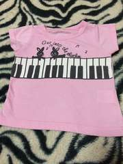 *ピアノ★Tシャツ*80