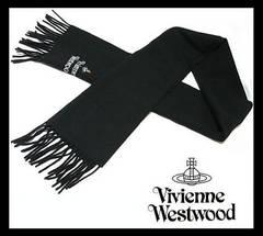 Vivienne Westwood  マフラー ブラック マルチカラーロゴ 10800円 本物 新品