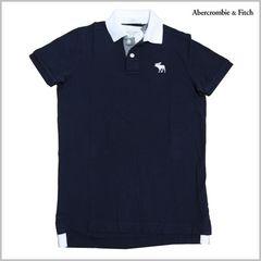 正規新品◆Abercrombie&Fitchポロシャツ M◆紺アバクロンビー&フィッチ直輸入