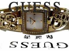 美品 1スタ★GUESS ゲス【保証書付】ジルコニア 美しい腕時計