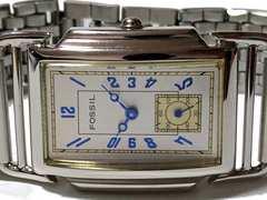 美品 1スタ★FOSSIL【スモールセコンド】美しいレトロ腕時計