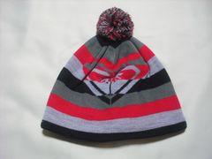 wb78 ROXY ロキシー ボンボン付き ボーダー ニット帽