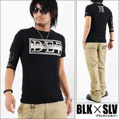 メール便送料無料【DELTA】Tシャツ70630新品黒銀XL