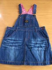 新品!!ハートが可愛いデニムジャンバースカート!