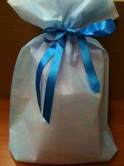 巾着式☆ラッピング袋☆ブルー☆10枚セット