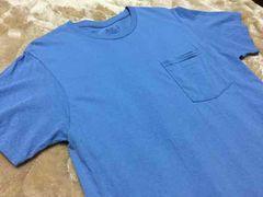 新品同様 fruits of the room ライトブルー ポケットTシャツ