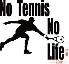 カッティングステッカー No Tennis No Life (テニス)・5