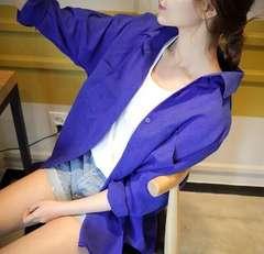 新品☆ゆったり綺麗シャツ ブルー